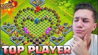 USING THE #1 PLAYER'S BASE… does it work? (Clash of Clans)