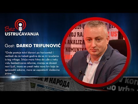 BEZ USTRUČAVANJA: Darko Trifunović  Bratislav Gašić mora da očisti BIA od kriminalaca i izdajnika!