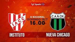 Primera B Nacional: Instituto vs. Nueva Chicago | #BNacionalenTyC