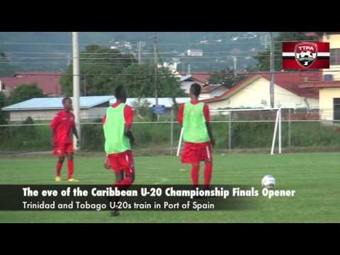 T&T Under 20s Train on Eve of CFU opener vs Suriname