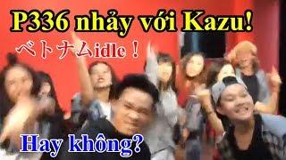 P336 dạy kiểu nhảy cho Kazu trong nhóm Double Wish.Bài hát tên là Don't be shy