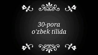 Quroni Karim Manolari õzbek Tilida 30 Pora