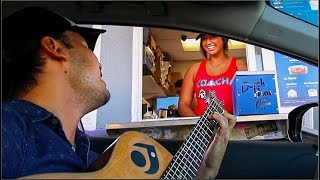 DRIVE-THRU SERENADING!!