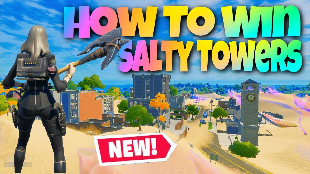 How To WIN & SURVIVE At Salty Towers EVERY Game! (Fortnite Season 5 Chapter 2 Tips & Tricks)