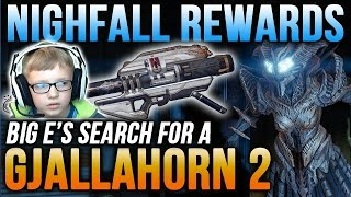 Destiny Nightfall Rewards x3 Omnigul: Quest for the Gjallahorn (1 drops & 1 is wagered)