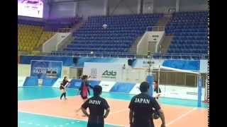 Training Japanese volleyball team.