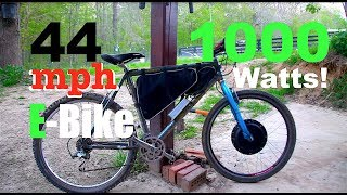 How to Make an E-BIKE! @44 mph!  *In under 1 hour*