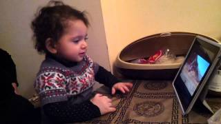 Baby Sindy watching Sirusho