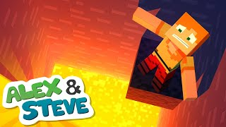 STEVE ALMOST KILLED ALEX! The Minecraft Life of Alex and Steve Minecraft Animation