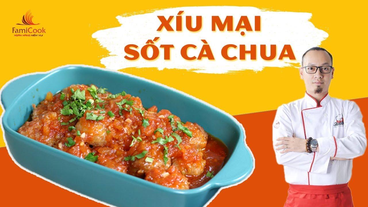 Xíu mại (thịt viên) sốt cà chua cho bé | Thực Đơn | Đầu bếp Hoàng Cường | Ăn Dặm 3in1