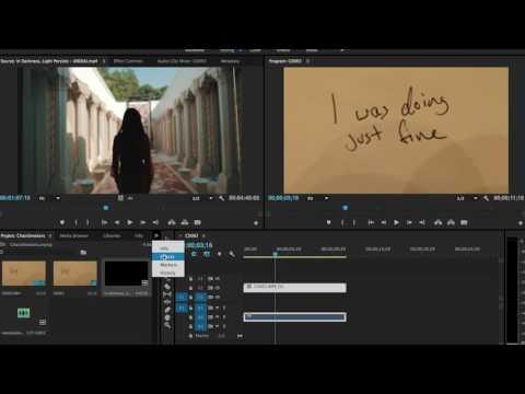 "Chainsmokers ""Closer"" lyrics tutorial in Adobe Premiere Pro by James Vadala"