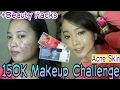 150K Makeup Challenge + Beauty Hacks Inez Eyeshadow Pallete (For Acne Skin)| Makeup Wajah Werjerawat