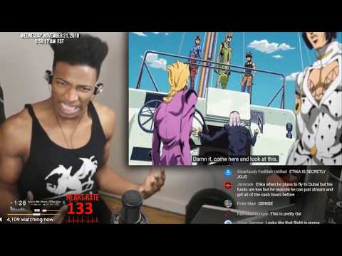ETIKA REACTS TO JOJO TORTURE DANCE