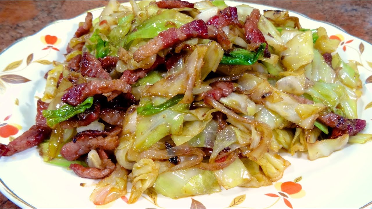 Stir Fried Cabbage And Pork Recipe World Of Flavor Youtube