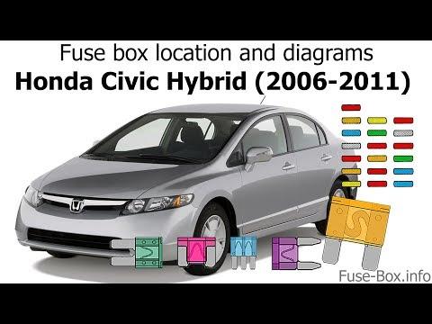 honda civic hybrid fuse box fuse box location and diagrams honda civic hybrid  2006 2011 2005 honda civic hybrid fuse box honda civic hybrid
