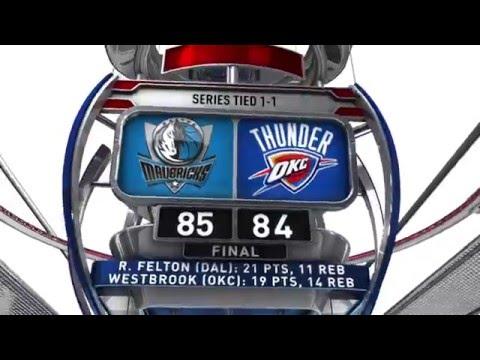 Dallas Mavericks vs Oklahoma City Thunder - April 18, 2016