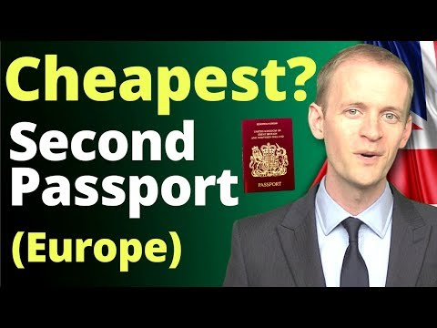 Cheapest Second Passport Pathways 💶(in Europe) In 2020 🇪🇺