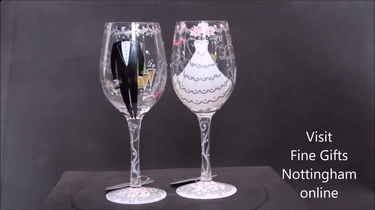 Bride And Groom With Wine Glasses