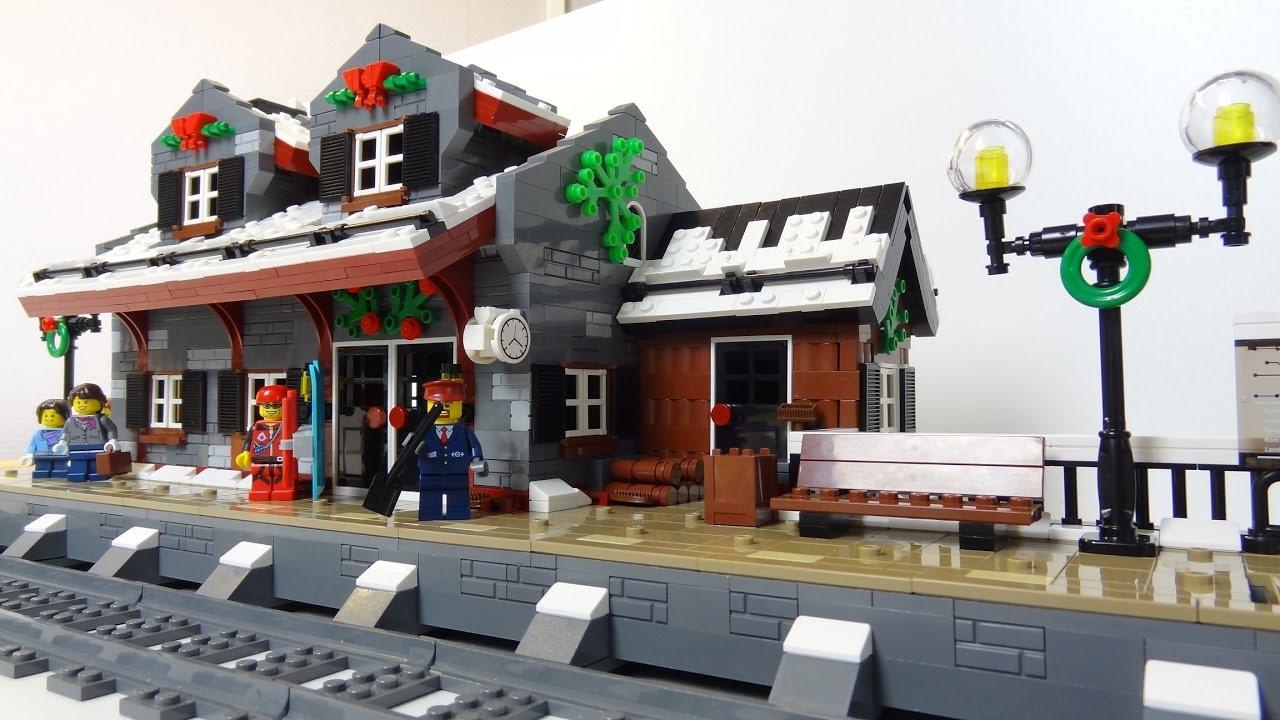 New Lego Winter Train Station Wip E04 Youtube