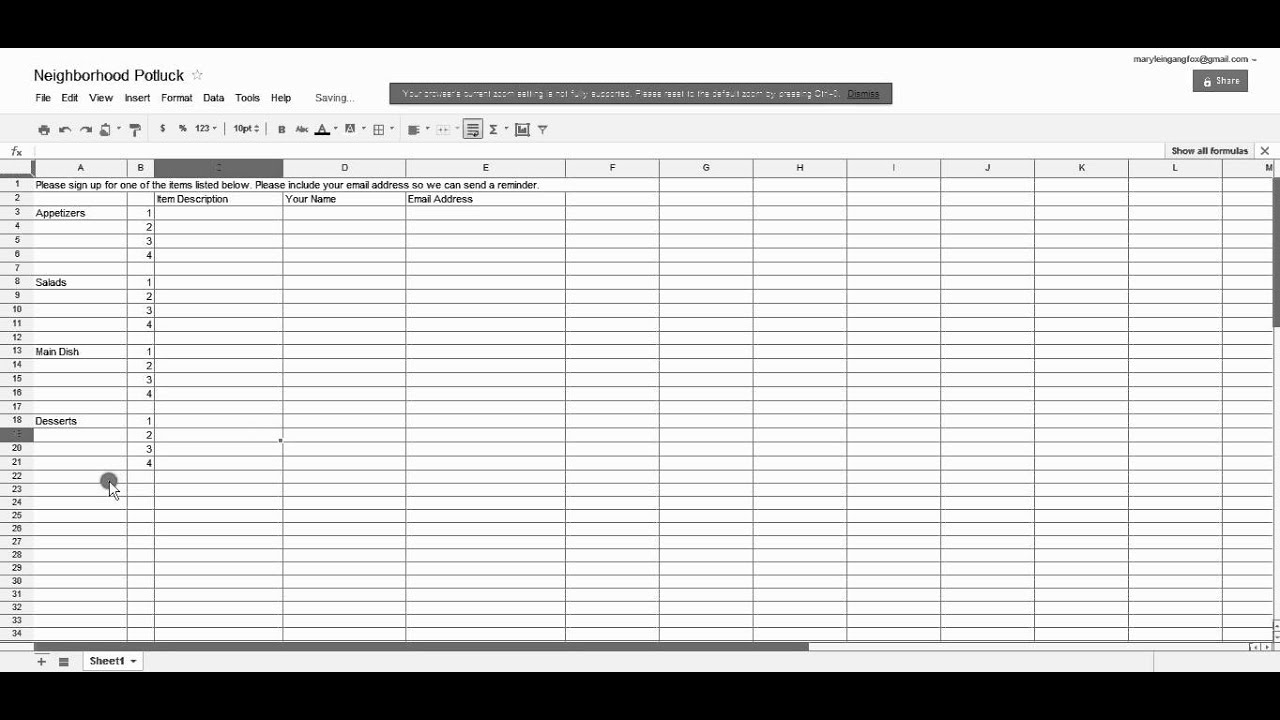 Create And Share A Spreadsheet On Google Docs  Create A Sign In Sheet