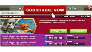 Clash Of Clans | How To Complete Trick or Treat? Event | Today's Event | Clash With Bhargav | Hindi