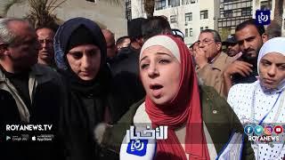 عدد من موظفي أمانة عمّان يعتصمون لانصافهم ومنحهم الحقوق المادية والوظيفية والقانونية - (19-2-2018)