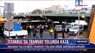 İstanbul'da tramvay yolunda kaza