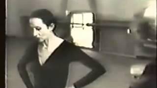 Наталья Бессмертнова и Марина Семенова. Репетиция Умирающий лебедь