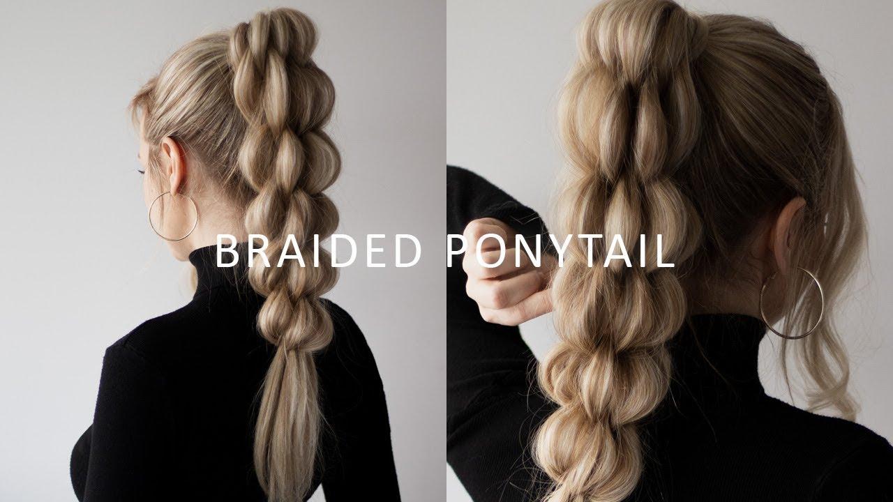 How To Unique Braid Ponytail Hair Tutorial For Long Medium Length Hair