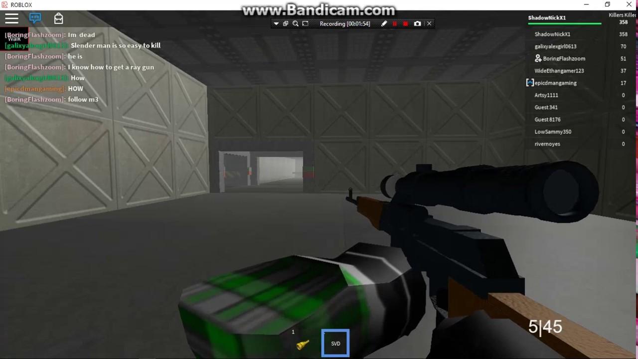 Roblox Survive And Kill The Killers In Area 51 New Gun Found - roblox area 51 guns