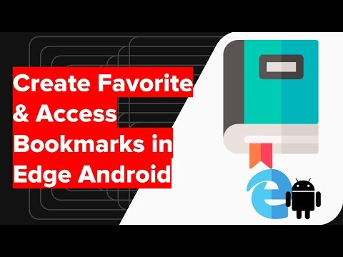 How to Bookmark and Favorite Link in Microsoft Edge Android?