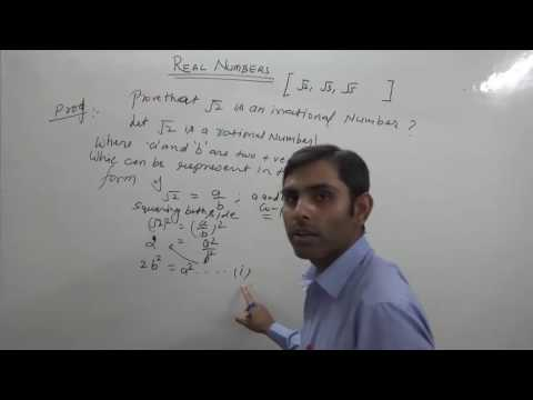 Prove that Square Root of 2, 3 and 5 is Irrational Number (Hindi) | NCERT/CBSE 10th Class Maths