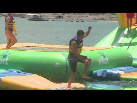 'Ninja Warrior On The Water': Floating Park Opens On Lake Travis
