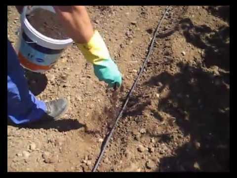 Abono para goteo en el surco huerto 2013 youtube - Tuberias de riego por goteo ...
