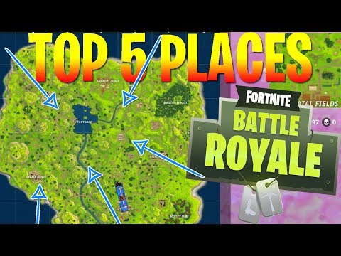 UNKNOWN PLACES TO LAND WITH EASY LOOT! (Fortnite Battle Royale)
