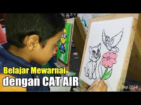 Belajar Mewarnai Dengan Cat Air Di Pasar Malam Youtube
