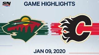 NHL Highlights   Wild vs Flames – Jan. 9, 2020