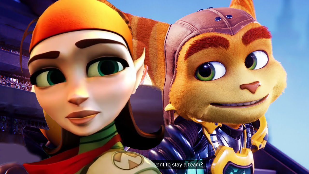 Ratchet Remembering His GirlFriend Talwyn & His Father Kaden - Ratchet & Clank: Rift Apart PS5 2021