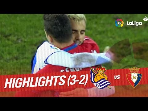 Resumen de Real Sociedad vs Osasuna (3-2)