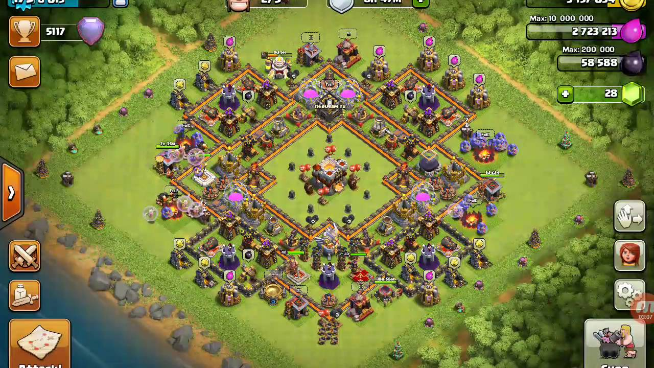 Clash of clans new base anti bowler th11 townhall 11 youtube