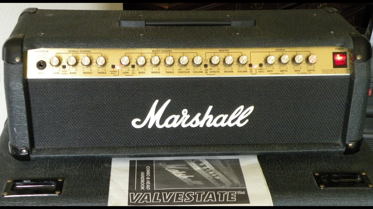 100 Amp Disconnect >> MARSHALL 8200 VALVESTATE AMP HEAD DEMO W/ Gibson Les Paul ...