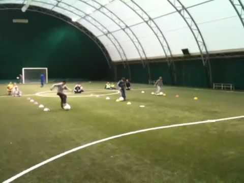 Allenamento Scuola Calcio Esercitazione categoria Pulcini: corri, porta, guida, gioca, tira.