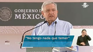 """""""Que sepan los conservadores que no voy a usar guardaespaldas, tengo mi conciencia tranquila, el que lucha por la justicia no tiene nada que temer"""", dijo el presidente López Obrador"""