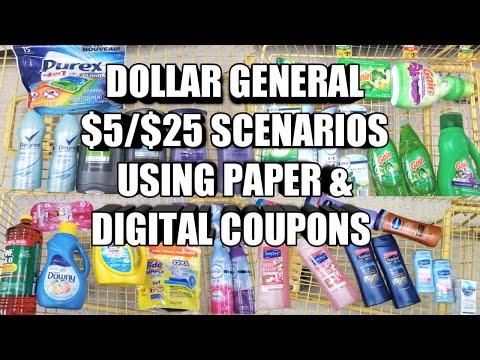 DOLLAR GENERAL $5/$25 SCENARIOS USING PAPER & DIGITAL COUPONS