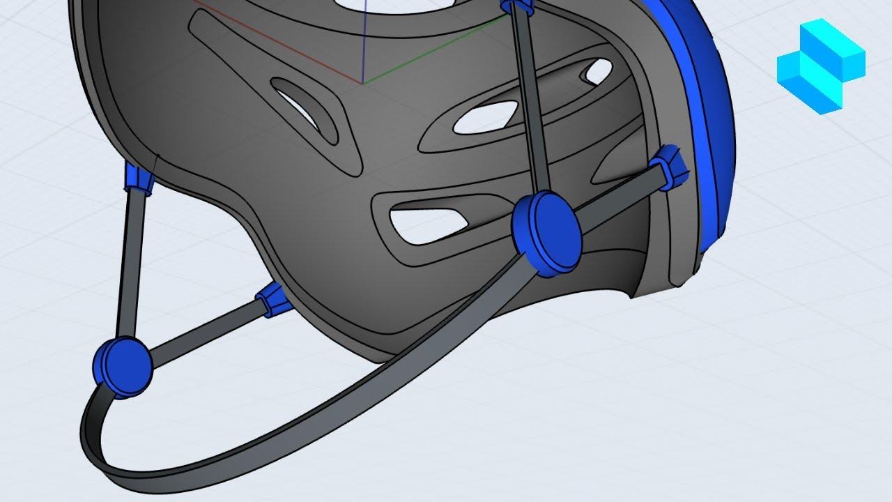 Bike Helmet Part 3   Advanced 3D modeling tutorial   Shapr3D - Bike Helmet Part 3   Advanced 3D modeling tutorial   Shapr3D