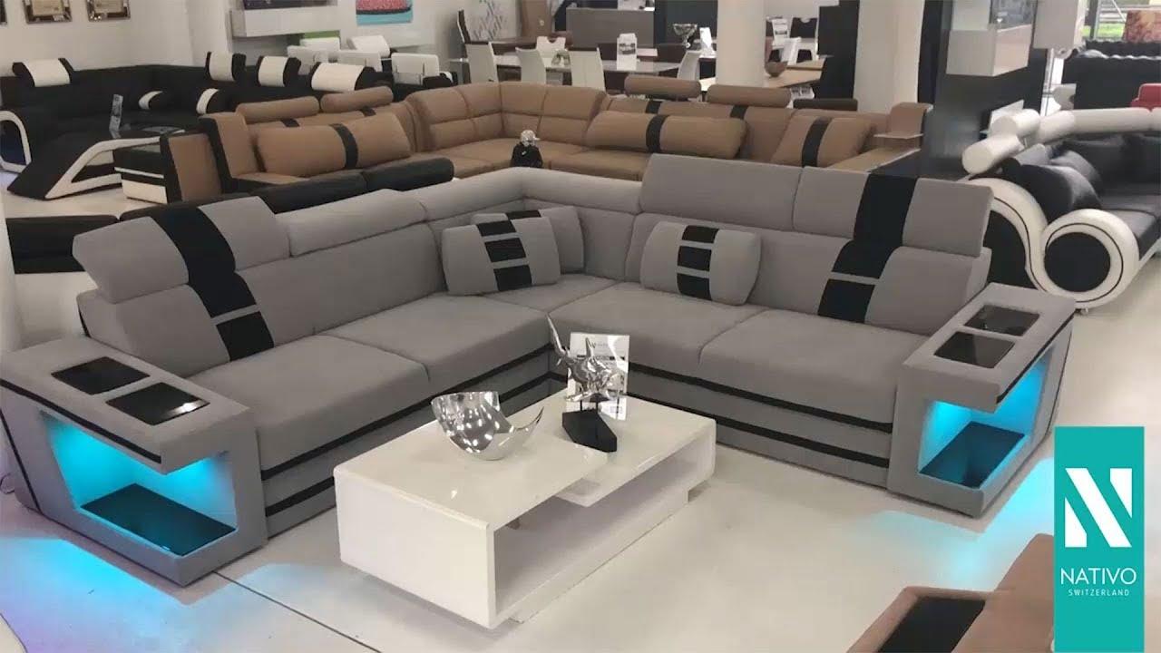 NATIVO Möbel Schweiz - Designer Sofa CAREZZA Corner mit ...
