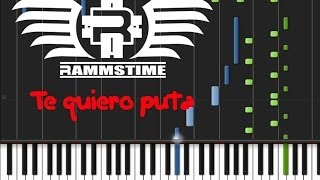Rammstein - Te quiero puta (♫) (ORIGINAL MIDI + Synthesia)