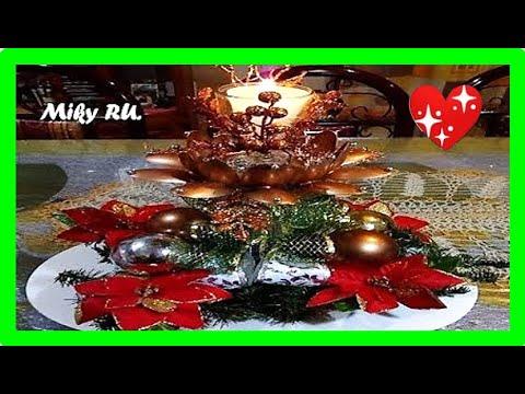 Como hacer un centro de mesa navideño - Miky Ru
