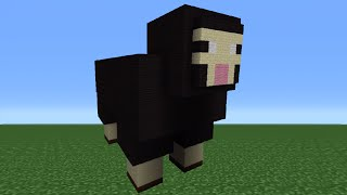 Minecraft Tutorial: How To Make A Sheep Statue