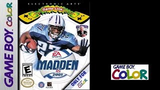 Madden NFL 2001 (Game Boy Color) Dolphins vs Saints (Gameplay) The GBC Files
